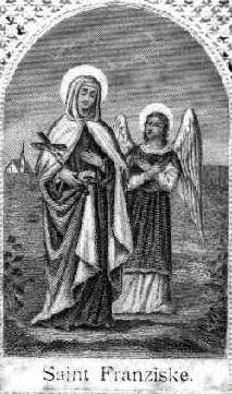 This is St. Frances of Rome (with an angel)