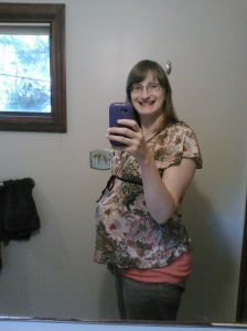 31 weeks and I think I've finally figured out how to take a picture of myself.