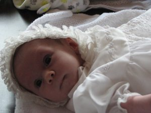 Maria wore my baptismal gown.