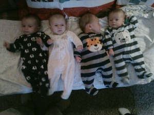 Augustine, Maria, Jacob and William. This is the only shot Brett took where no one is crying.